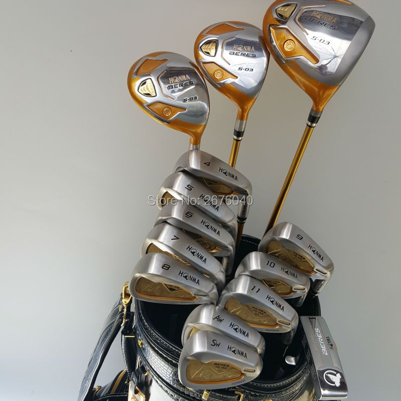 New Golf clubs HONMA S-03 4star Compelete club set Driver+3/5 fairway wood+irons+putter and Graphite Golf shaft No ball packs