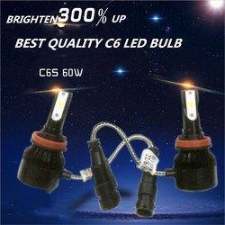 Más barato DLAND C6S bombilla LED AUTO luz KIT 60 W 6400LM linterna mejores C6, lámpara LED conversión H1 H3 H4 H7 9006 9005 H8 H11 H13