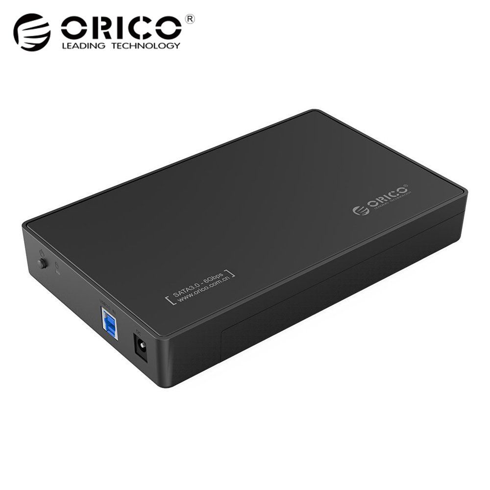 3.5 Inch HDD Enclosure Case, USB 3.0 5Gbps to SATA Support UASP and 8TB Drives <font><b>Designed</b></font> for Notebook Desktop PC (ORICO 3588US3)