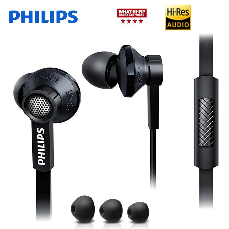 Philips Original Tx1 HiRes earphone high resolution HIFI fever earbuds ear noise canceling earphones for a mobile phone xiaomi