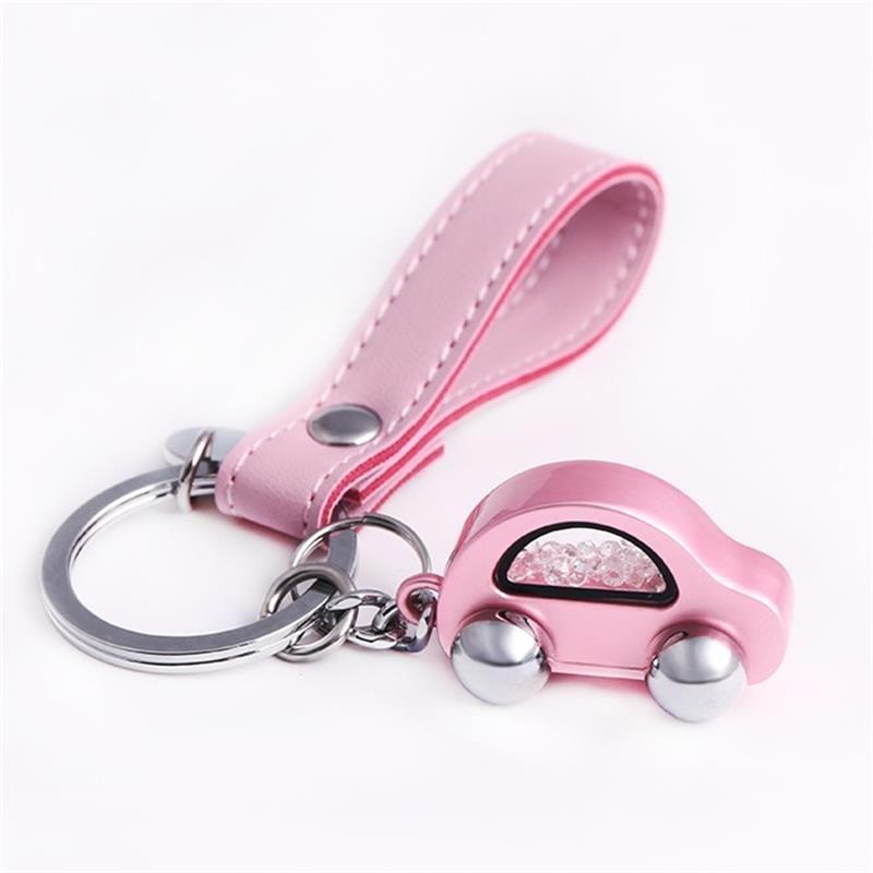 Milesi Car Keychain Women Car Shape Key Holder Trendy Rhinestone Key Ring Cute Pendant For Girl K0254