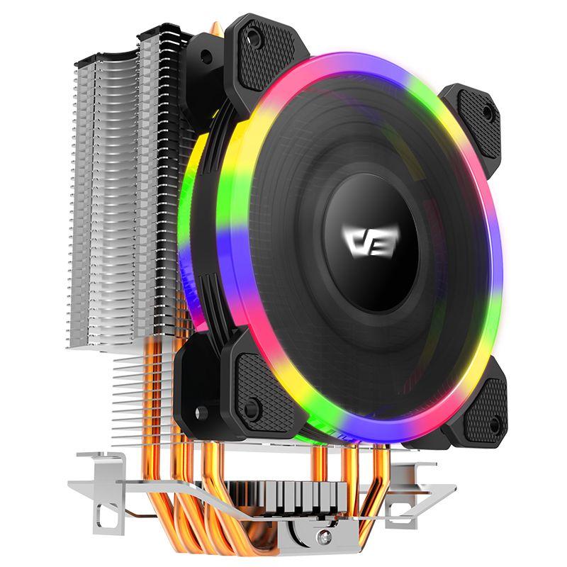 Aigo L5 LED CPU Kühler RBG fan kühlung AMD Intel 5 Rohre 120mm PC CPU silent CPU FAN doppel RGB ring