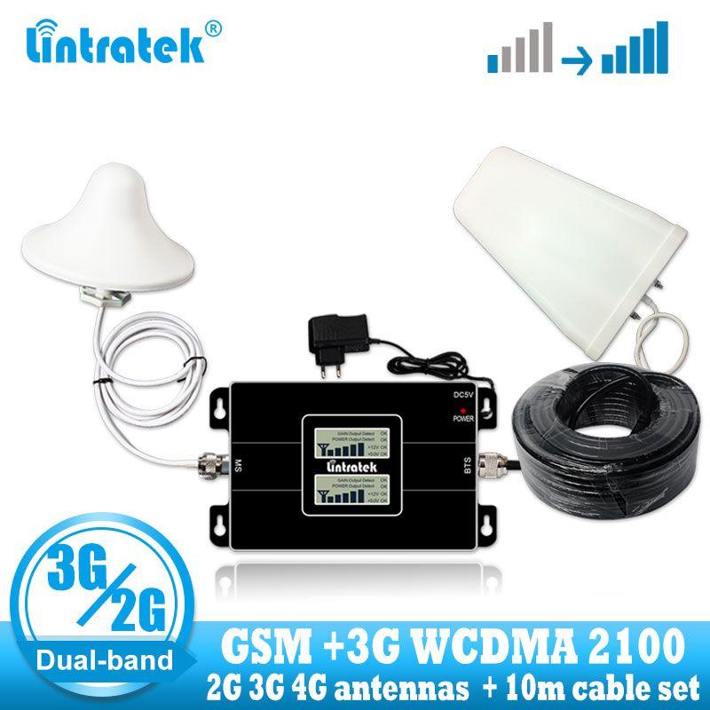 Amplificateur de Signal de téléphone intelligent de bande buale celulaire de Lintratek russie GSM 900/2100mhz amplificateur de Signal de WCDMA 3G GSM répéteur de Signal 3G