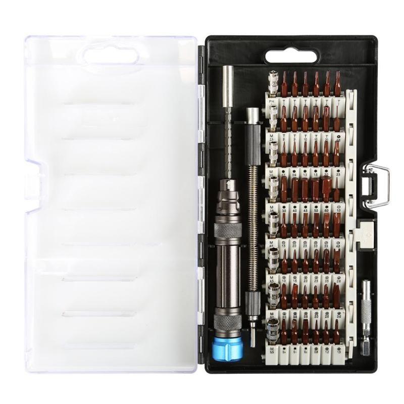 60 en 1 Chrome Vanadium précision tournevis Kit d'outils tournevis magnétique ensemble pour téléphone tablette Compact réparation outil d'entretien