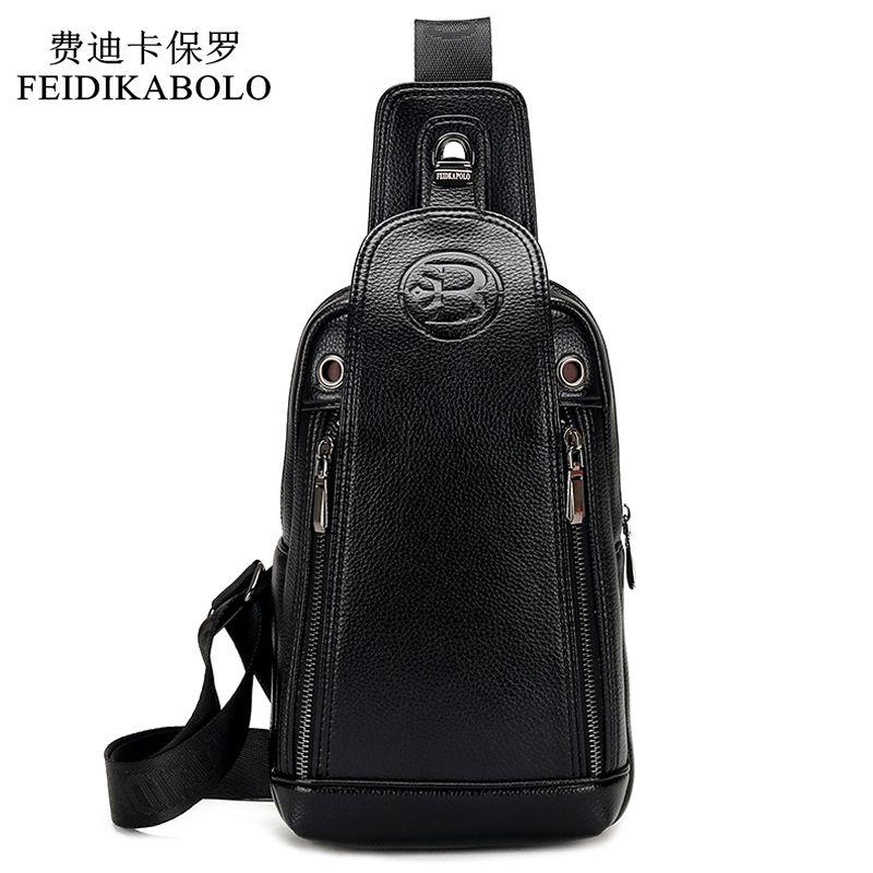 FEIDIKABOLO marque de luxe affaires hommes Messenger sacs en cuir hommes bandoulière sacs homme cartables sac à dos hommes voyage sacs à bandoulière