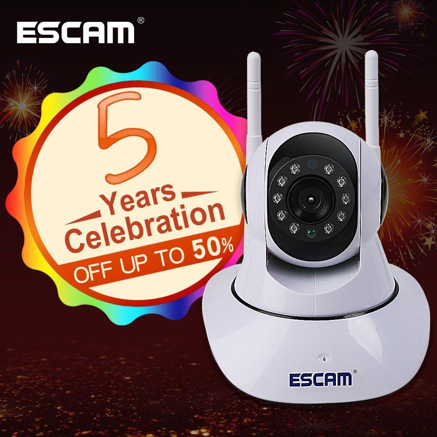 ESCAM G02 Double Antenne 720 P Pan/Tilt WiFi IP IR Support de Caméra ONVIF Max jusqu'à 128 GB Moniteur vidéo ip caméra
