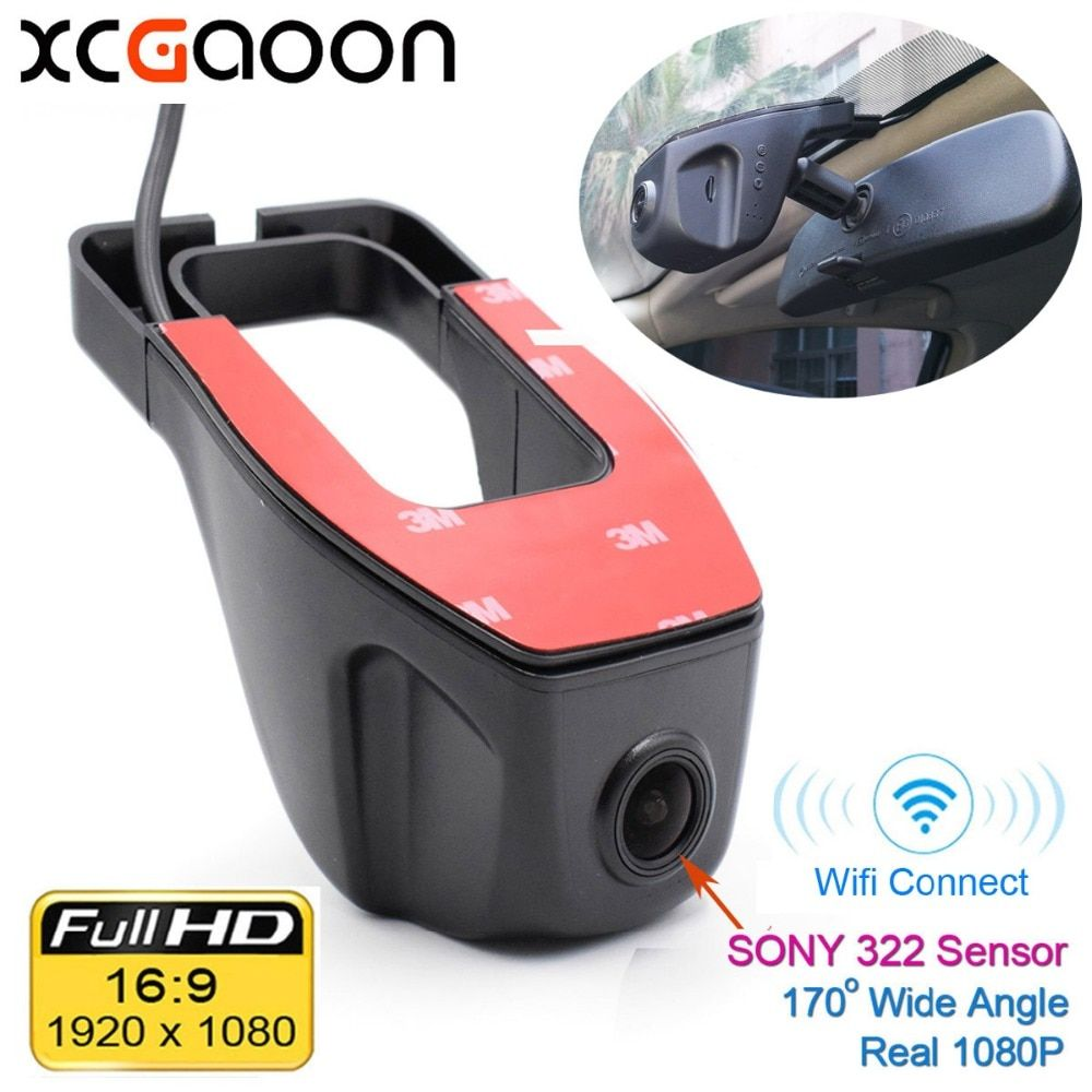 XCGaoon Wifi 170 degree Car DVR Video Recorder Camcorder Dash Camera 1080P Night Version Novatek 96655 Use SONY 322 Sensor