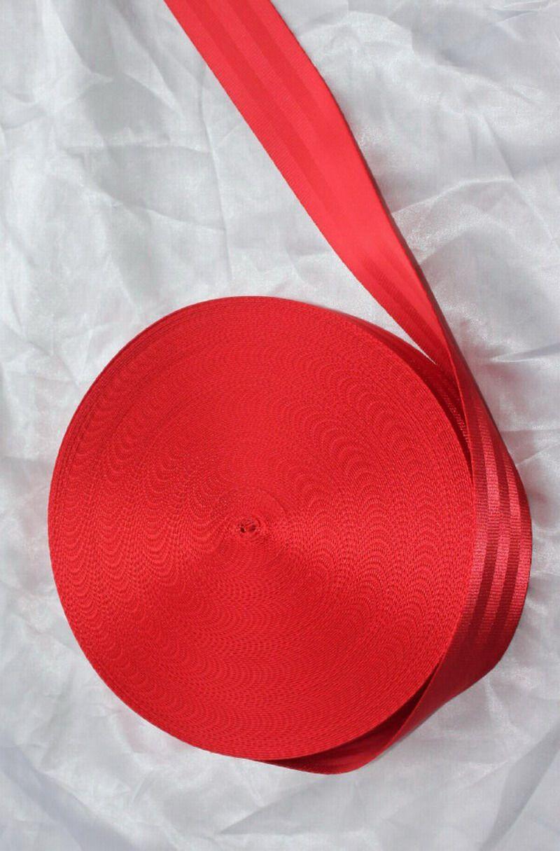30 mètre Rouleau Siège Ceinture Sangle Sangle De Sécurité Rouge Couleur 48mm Large 5 Bars