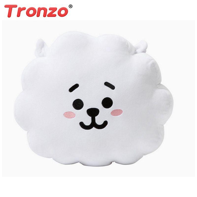 Tronzo 8 Style BTS Bt21 Bangtan Boys Kawaii Pillow Plush Toy cushion TATA VAN COOKY CHIMMY SHOOKY KOYA RJ MANG Gift For Girl