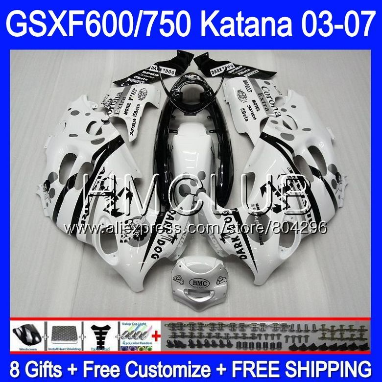 Bodys Für SUZUKI KATANA GSXF600 2003 2004 2005 2006 2007 Skorpion BLK 8HM. 24 GSX600F GSXF 600 750 GSXF750 03 04 05 06 07 Verkleidung