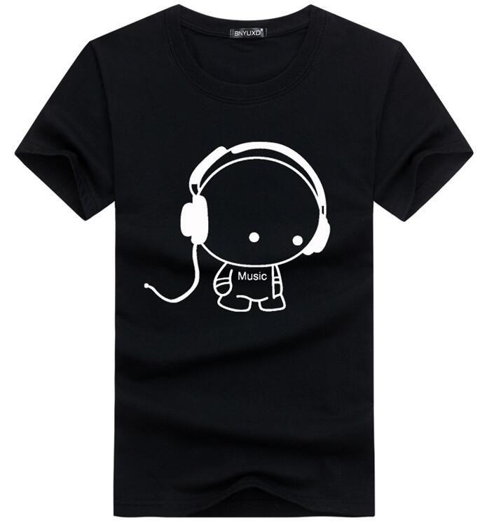 2018 neue Ankunft Männer T-shirt Casual Stil Sommer Baumwolle Kurzarm Multi Farbe Männlichen Cartoon Material auf größe