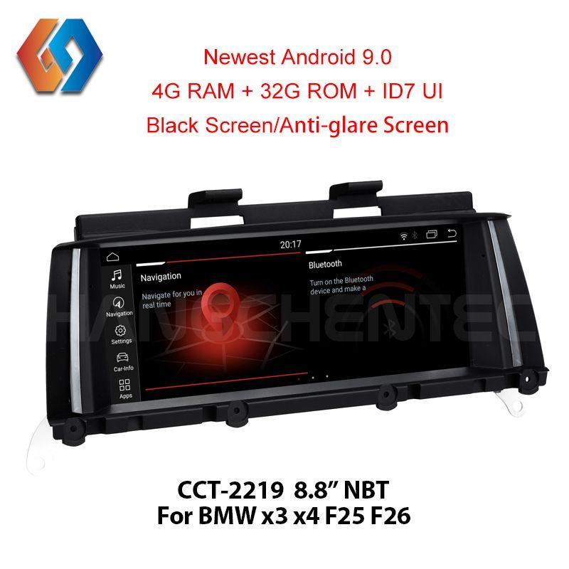 Für BMW X3 F25 X4 F26 NBT GPS Navigation Android 9.0 Px6 Sechs-core Auto Multimedia BT WiFi Unterstützung DVR zurück Cam TV Aux Große Touch19