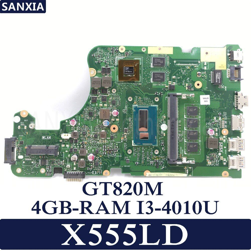 KEFU X555LD Laptop motherboard for ASUS X555LD X555LP X555LA X555L X555 Test onboard mainboard 4G RAM I3-4010U GT820M