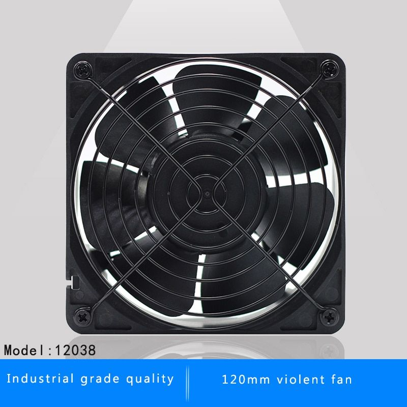 120mm 12038 12CM DC 12V server inverter miner cooling fan for BTC Miner Bitcoin asic S7 S9 Low Noise Powerful Server cooler