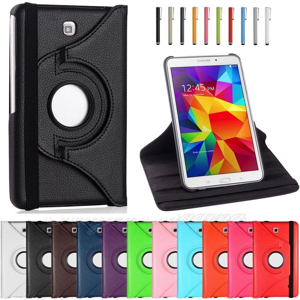 SM-T230 SM-T231 Pour Samsung Galaxy Tab 4 7.0 pouce T230 T231 T235 360 Rotation Étui En Cuir PU Pour tab 4 7.0 Funda Capa