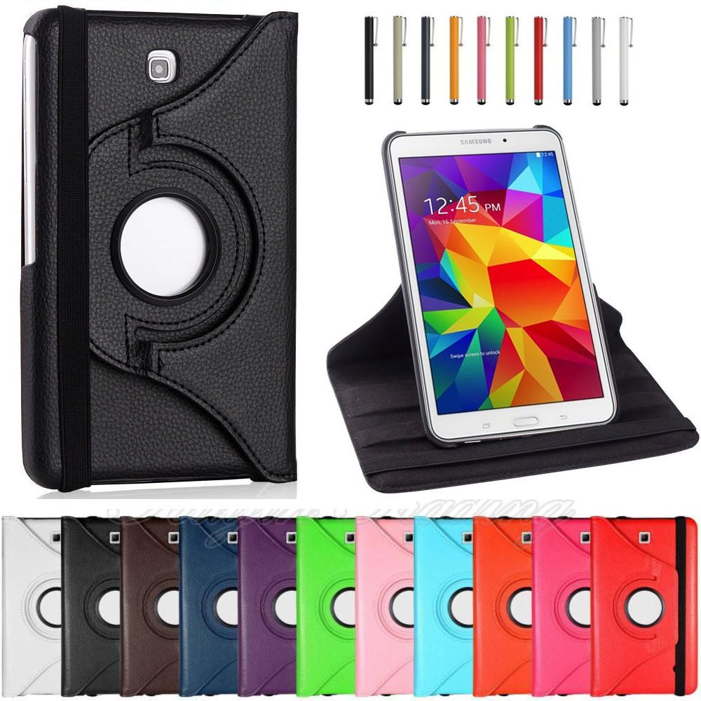 SM-T230 SM-T231 case For Samsung Galaxy Tab 4 7.0 inch T230 T231 T235 360 Rotation Flip PU Leather Case For Tab 4 7.0 SM-T230 SM