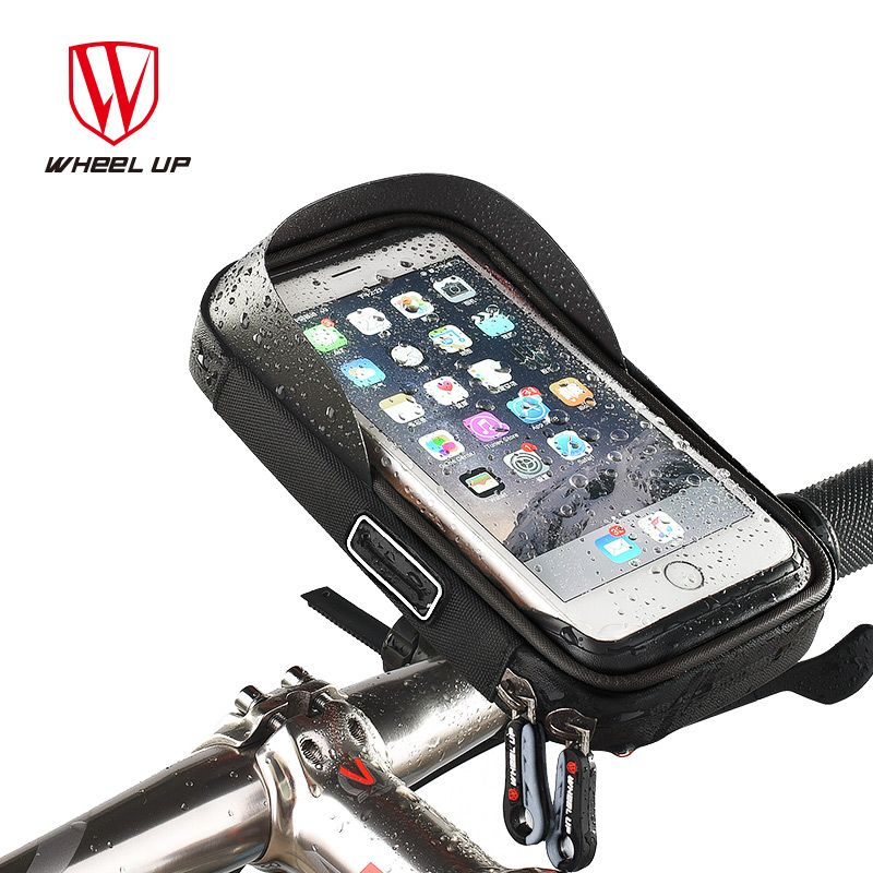 WHEEL UP Bike Bicycle Phone Bag Rainproof TPU Touch Screen Cell Phone Holder Bicycle Handlebar Bags MTB <font><b>Frame</b></font> Pouch Bag 2017