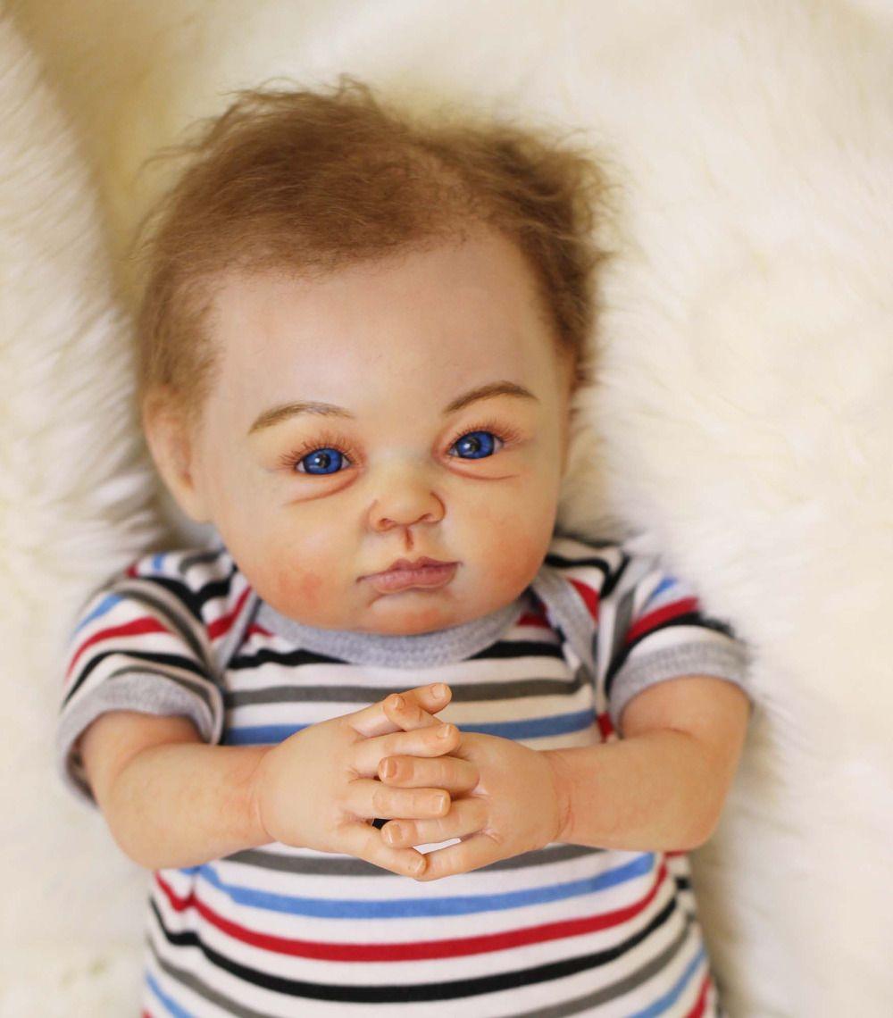Die Künstler Meisterwerk Silikon Reborn Baby Puppe Spielzeug Lifelike Qualität Neugeborenen Jungen Babys Puppe Mädchen Best Birthday Geschenke