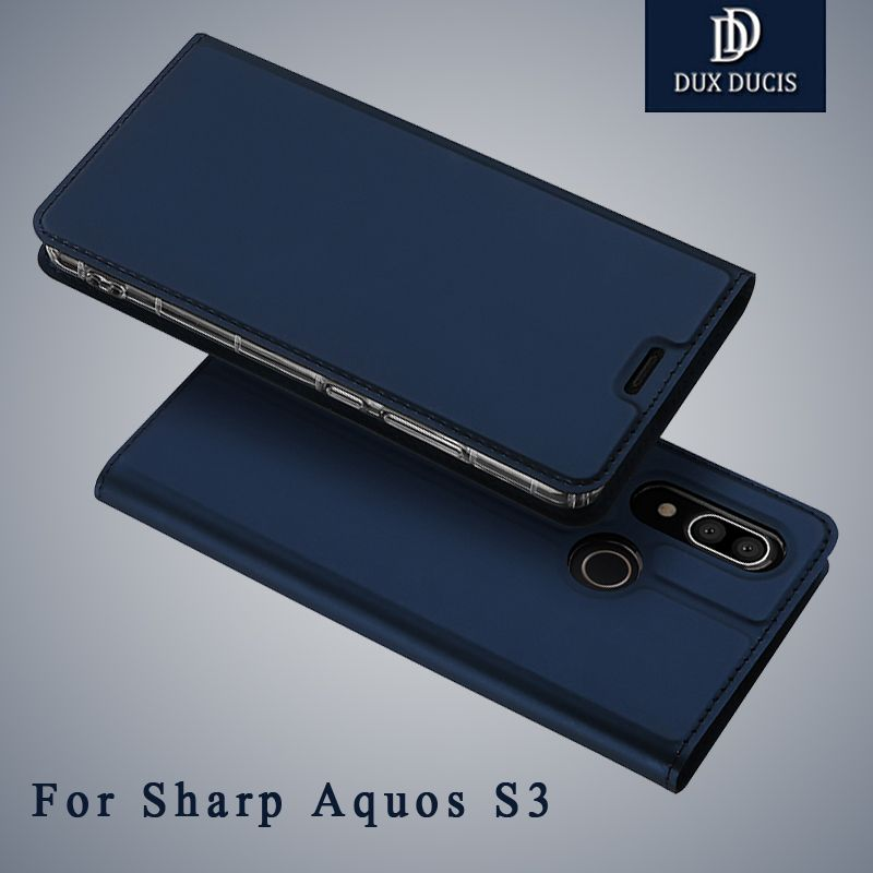 Dux Ducis Cover For Sharp Aquos S3 Case Flip Wallet Leather Coque For Sharp S3 Aquos Case Flip Leather Cover For Sharp S3 Cases