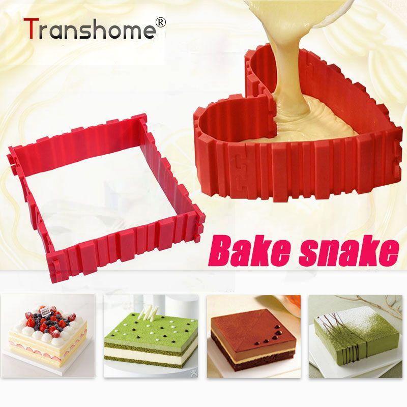 Magie Cuire Serpent Silicome Gâteau Moule Coeur Ombre Rectangulaire Abat-Jour Rond Cuire Serpent Gâteau Moule Pâtisserie Outils Accessoires de Cuisine