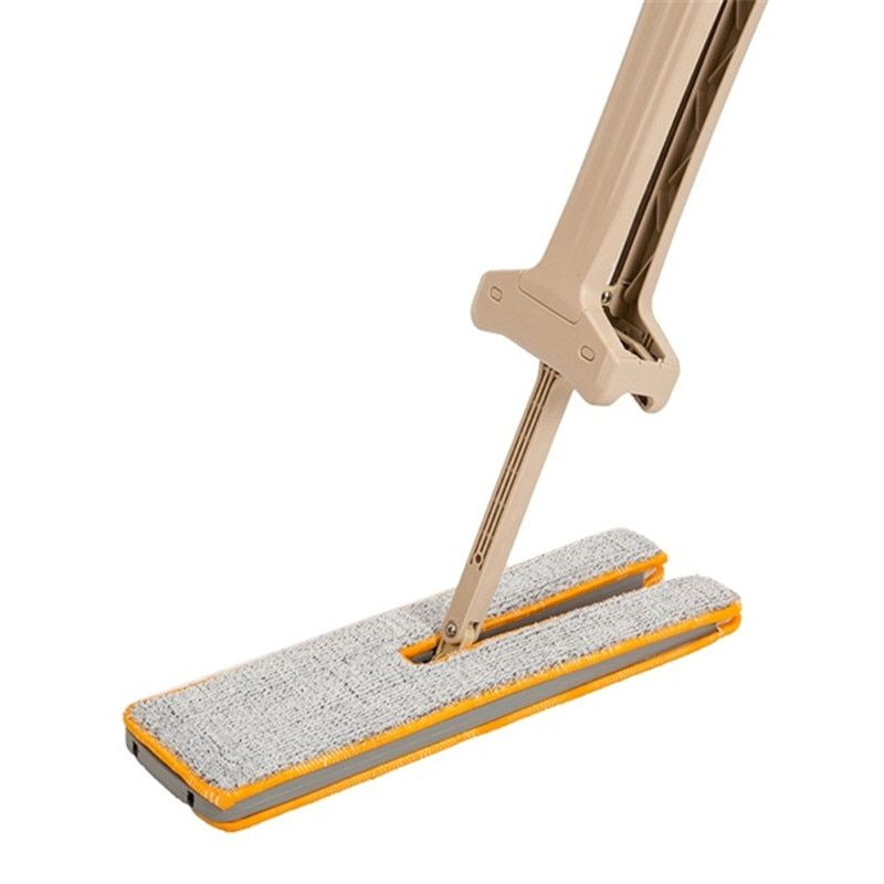Double Sided Lazy Mop 360 Degrees Self-Wringing Flipping Flat Cleaning Mop Telescopic Hand Push Magic Mop Cleaning Tools