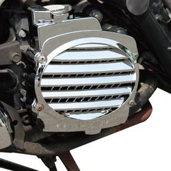 Sepeda Motor Scooter Chrome/Imitasi Serat Karbon Box Pendingin Penutup Kipas Penutup untuk Honda DIOZ4 Scoopy AF58 Zoomer