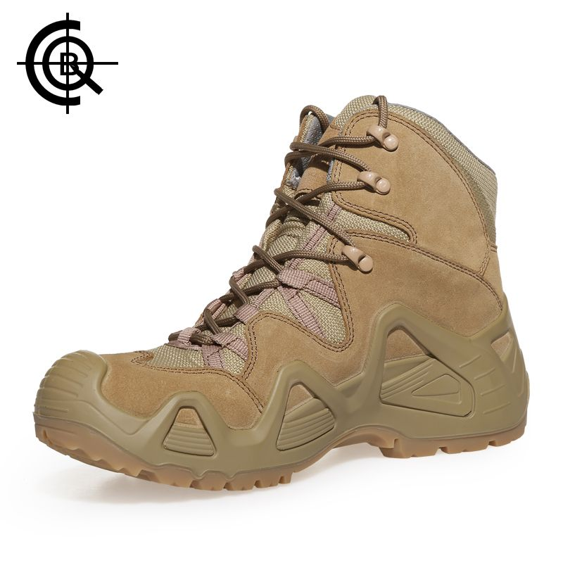 CQB мужские тактические ботинки Mountain Мощность Открытый скальные туфли мужчины носят износостойкие нескользящие большой Размеры походы крос...