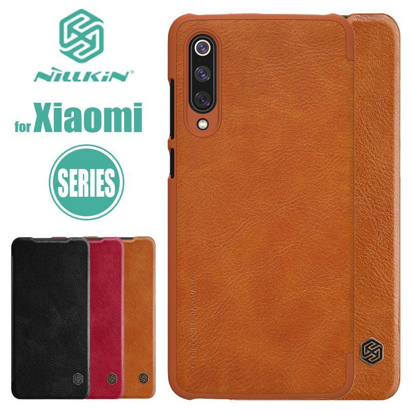 Xiao mi mi 9 mi 8 SE étui Nillkin Qin Series étui en cuir à rabat Coque de luxe pour Xiao mi mi 6 mi 5 mi 9 mi 8 SE Pro Nilkin Coque de téléphone