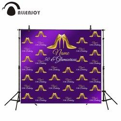 Allenjoy photography backdrop Purple Noble Crystal shoes Birthdaycustom made Queen background original design for photo studio