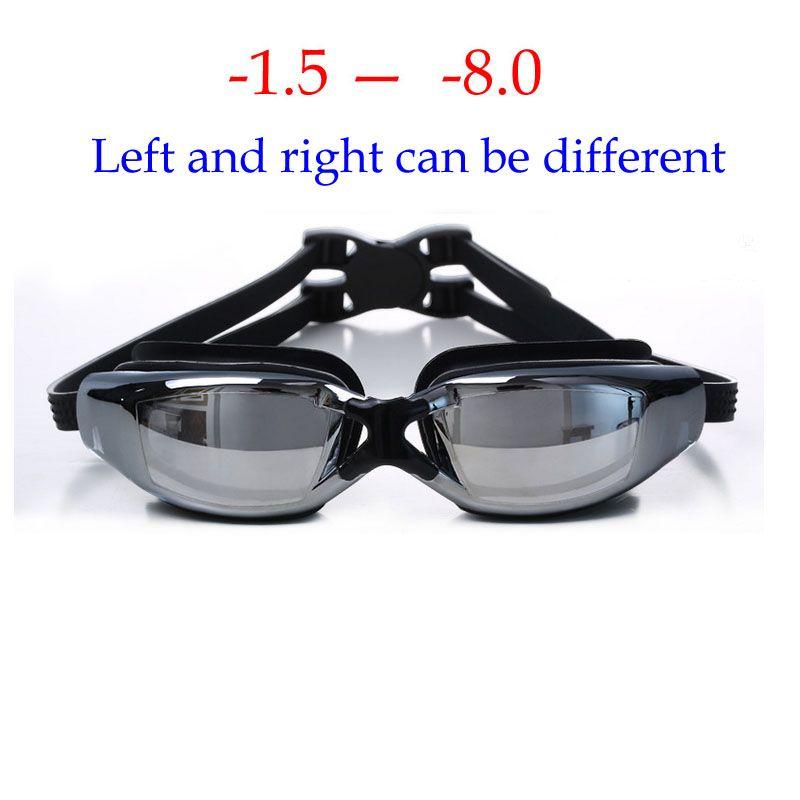 New Swimming glasses myopia Anti-Fog silicone goggles Waterproof arena Adult professional swim eyewear Optical Swimming goggles