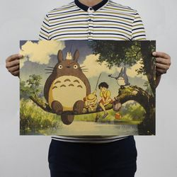 My Neighbor Totoro Vintage Kraft Paper Classic Movie Poster Home Decoration  Art Magazines  Retro Posters and Prints