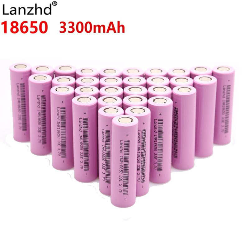 Pour samsung 18650 batteries 3300 mah INR18650 3.7 v Rechargeable batteries Li ion lithium ion 18650 30a grand courant 18650VTC7