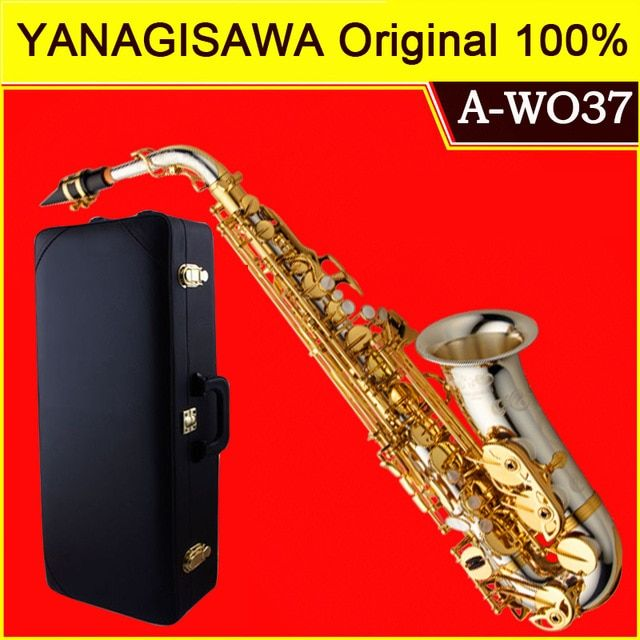 Brand NEW YANAGISAWA A-WO37 Alto Saxophone Silver Plated Gold Key Professional Sax Mouthpiece With Case and Accessories