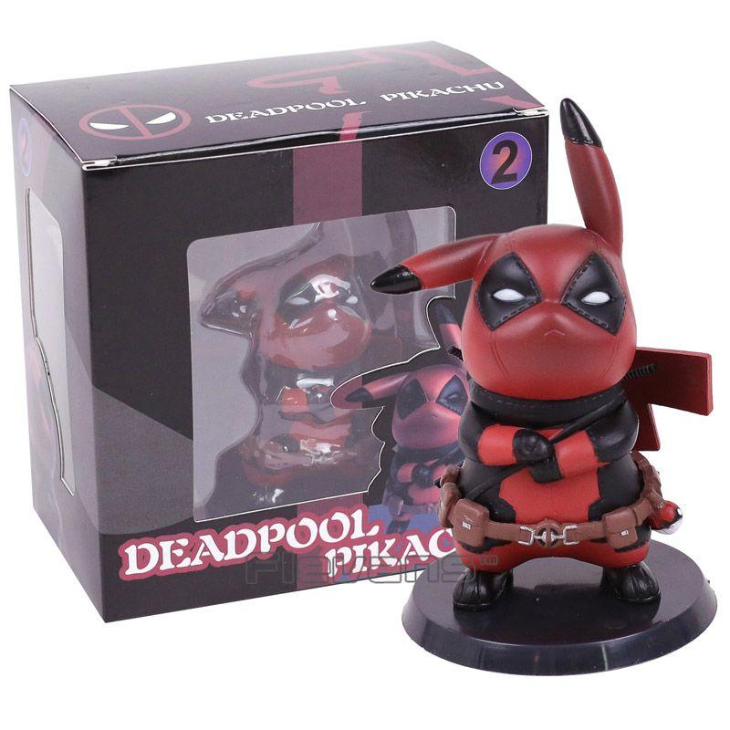 Deadpool Captain America Pikachu Mini PVC Figure Collectible <font><b>Model</b></font> Toy Small Size 10cm