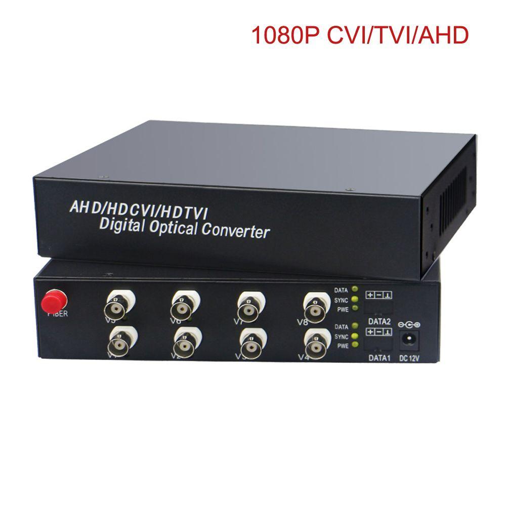 HD Video Fiber Optical Media Converters (Transmitter and Receiver) for HD CCTV 1080P 960p 720p CVI TVI AHD Cameras