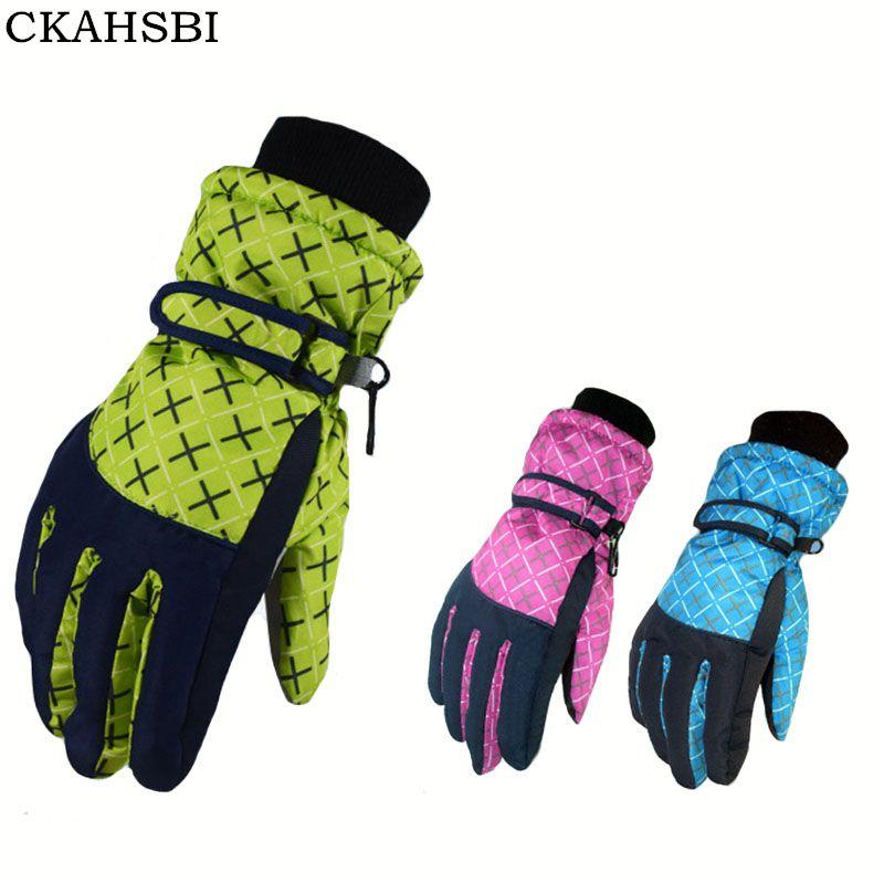CKAHSBI Ski-handschuhe Im Freien Frauen Radfahren Schnee Handschuhe Anti Skid Sport Winter Handschuhe Winddicht Durable Skifahren Snowboard Handschuhe