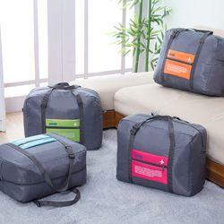 Okokc moda impermeable viaje bolsa de gran capacidad mujeres bolsa plegable Oxford bolsos unisex del recorrido del equipaje