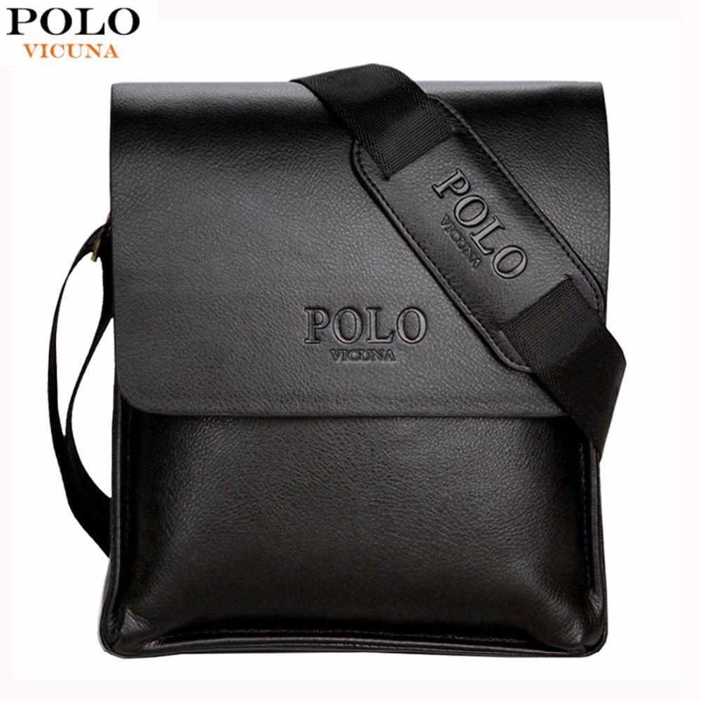 VICUNA POLO Famous Brand Leather Men Bag Casual <font><b>Business</b></font> Leather Mens Messenger Bag Vintage Men's Crossbody Bag bolsas male
