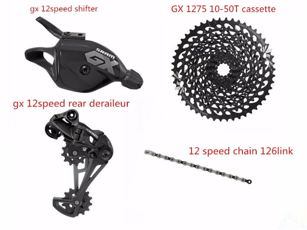 GX EAGLE 12 Speed 4Pcs Shifter Rear deraileur 126 link Chain 10-50T Cassette