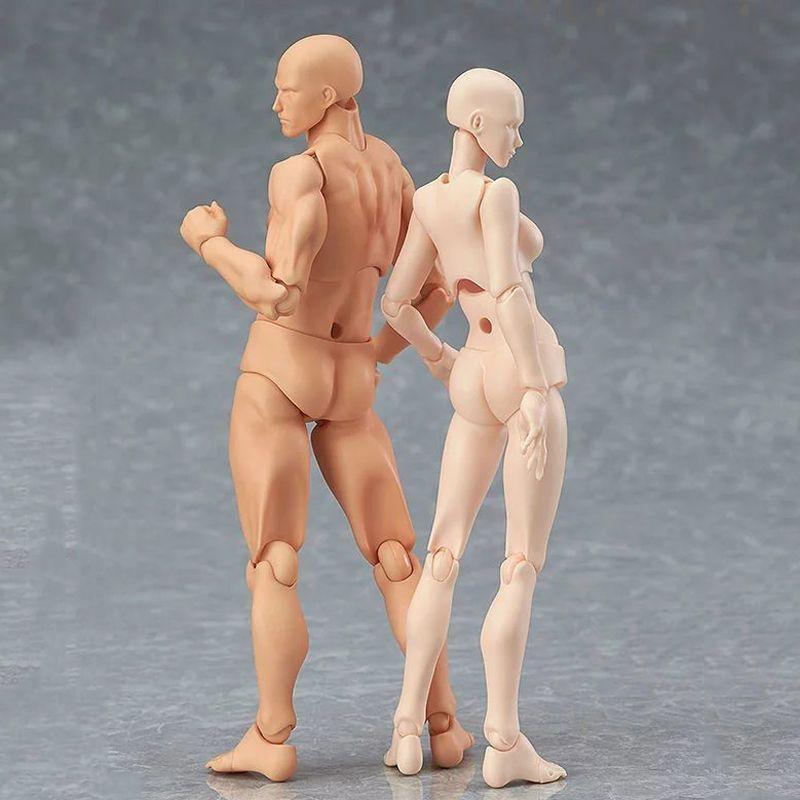 13 cm Figurine Jouets Artiste Homme Mobile Joint Femelle Figure corps Modèle Mannequin bjd Art Croquis Dessiner chiffres kawaii figurine