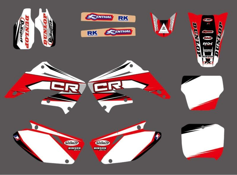 GRAPHICS & BACKGROUNDS DECALS STICKERS Kits for Honda CR125 CR250 2002 2003 2004 2005 06 07 08 09 10 11 2012 CR 125 250