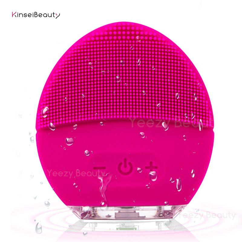 Brosse de nettoyage du visage épurateurs de visage nettoyant électrique imperméable et brosse de massage pour tous les Types de peau, USB Rechargeable