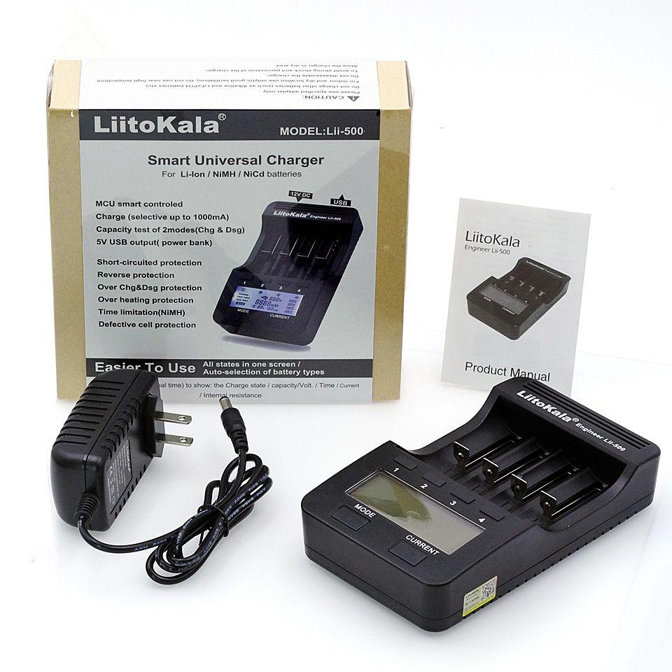 100% New Liitokala lii500 Smart Universal LCD LI-ion NiMh AA AAA 10440 14500 16340 17335 17500 18490 17670 18650 Battery Charger