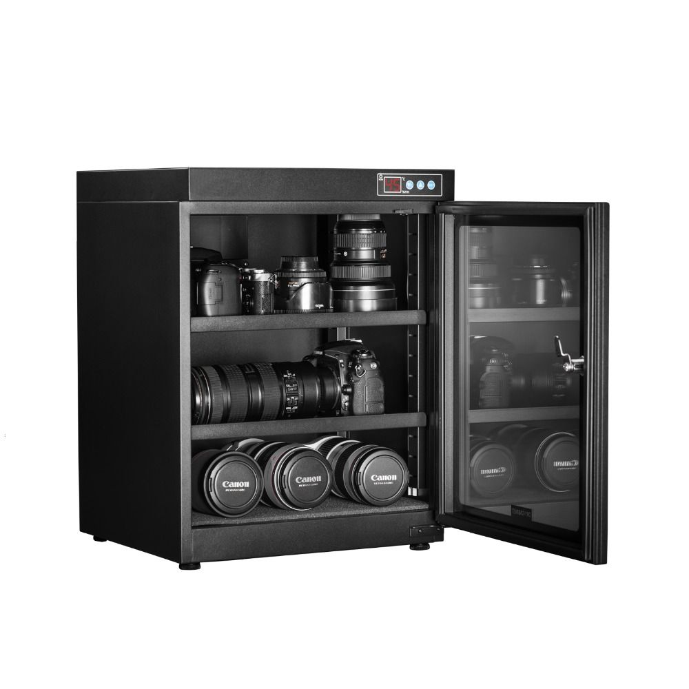 Full Automatic Dry Cabinet Collectibles SLR Camera Lens Dry Box Moistureproof Box Touch Switch LED Display 70 Liter