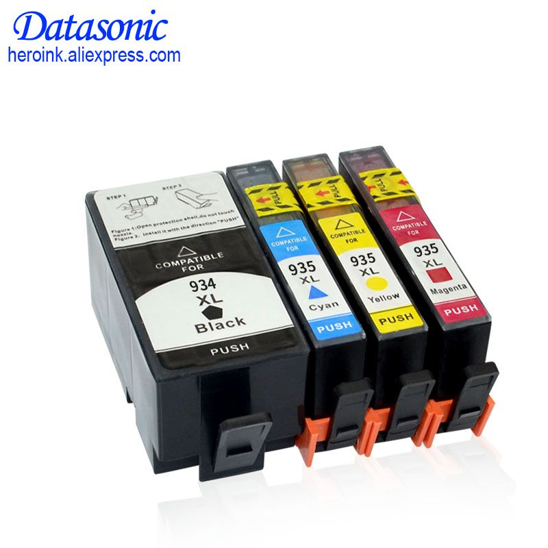 4PK DAT For HP 934 935 934XL 935XL Compatible Ink Cartridge For HP Officejet Pro 6230/6830/6835/6812/6815/6820 Printer
