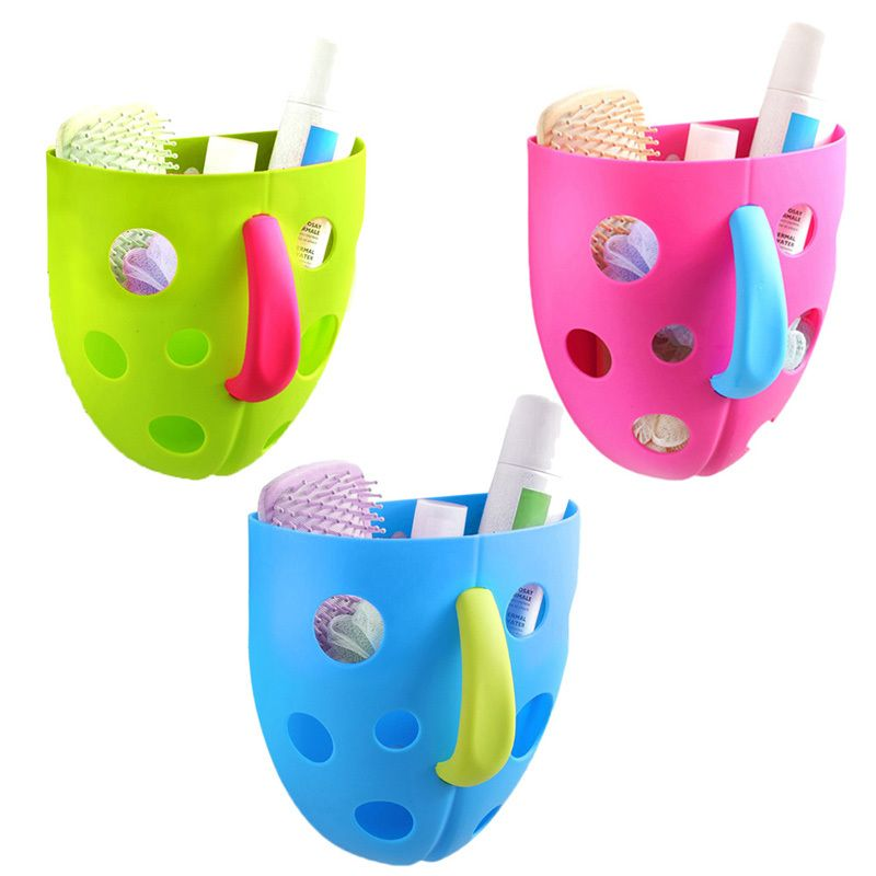 New Funny Security Plastic Baby Kids Bath Toy Organizer Scoop Storage Bin Toddler Baby Toy Hanging Organizer