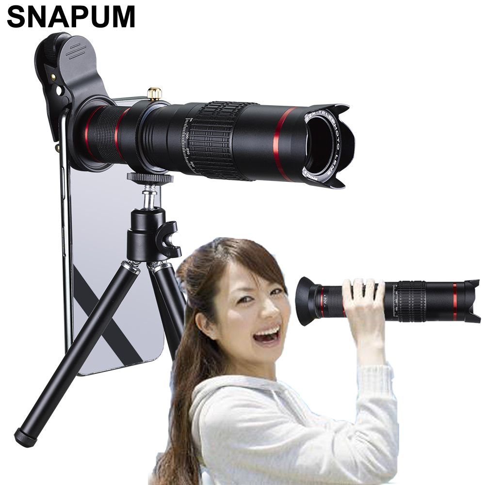SNAPUM téléphone portable téléphone portable HD 4 K 22x caméra Zoom télescope optique téléobjectif pour Samsung iphone huawei xiaomi