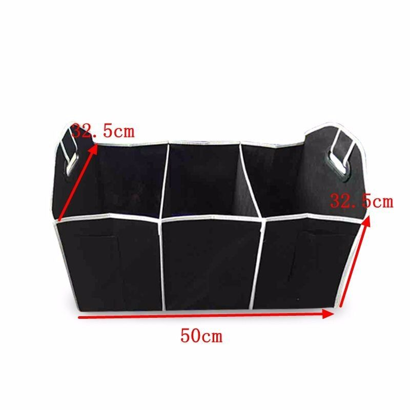 Black Folding Car Storage Box Collapsible Container Reserve Bags Organizer For Toys Food Book Cargo Stowing Styling