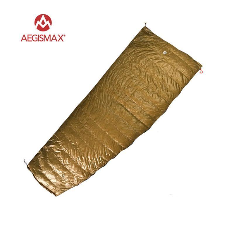 AEGISMAX Außen Umschlag 95% Weiße Gänsedaunen Schlafsack Camping Wandern Ausrüstung FP800 M L
