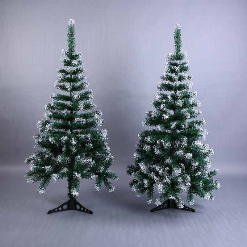 Artificial Flowser Christmas Tree Snowflake Xmas Plastic Tree 120cm New Year Home Ornaments Desktop Decorations Christmas Tree